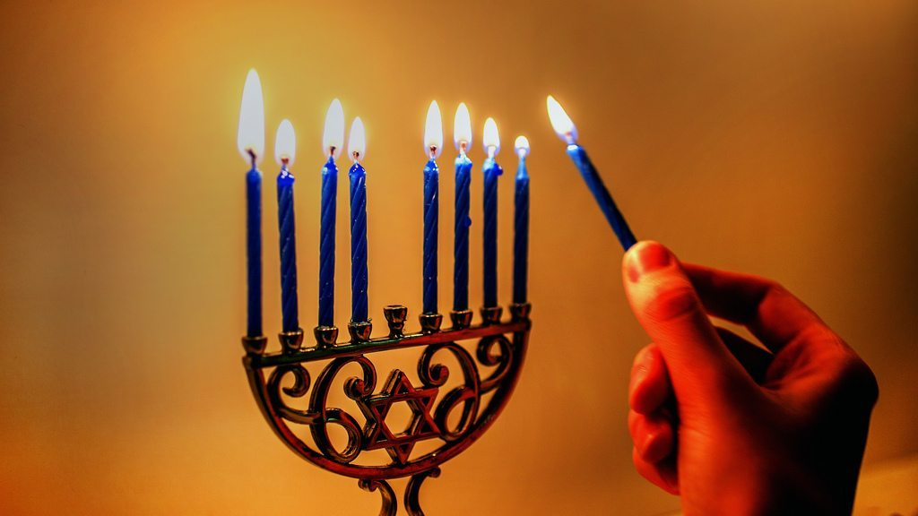 menorah flames