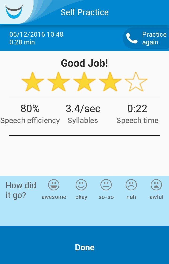 NiNiSpeech screen