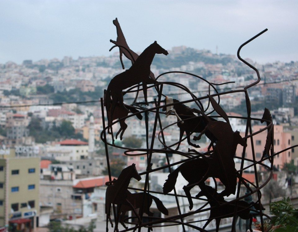 Wire Horses Jerusalem background