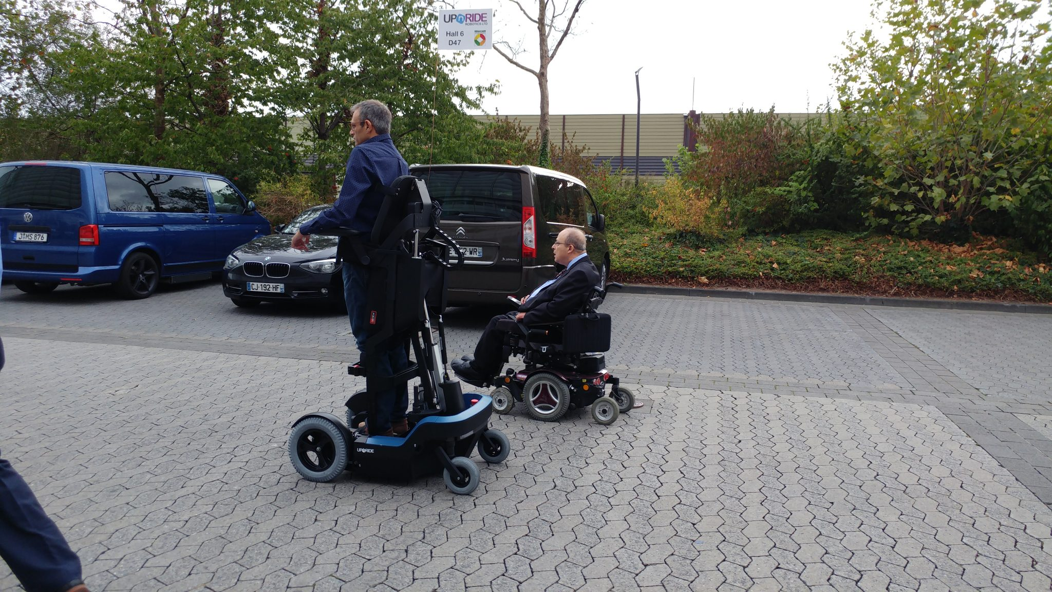 UpnRide Israeli startup for upright wheelchair testing the product on urban terrain